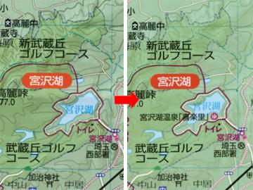 宮沢湖地図