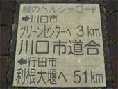 緑のヘルシーロード距離表示